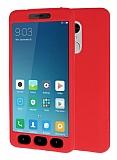 Xiaomi Redmi Note 4X 360 Derece Koruma Likit Kırmızı Silikon Kılıf