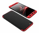 Eiroo Protect Fit Xiaomi Redmi Note 5A 360 Derece Koruma Kırmızı-Siyah Rubber Kılıf