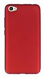 Xiaomi Redmi Note 5A Mat Kırmızı Silikon Kılıf