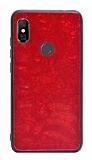 Xiaomi Redmi Note 6 Pro Desenli Silikon Kenarlı Kırmızı Rubber Kılıf