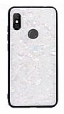 Xiaomi Redmi Note 6 Pro Desenli Silikon Kenarlı Beyaz Rubber Kılıf