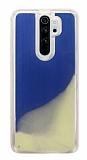 Xiaomi Redmi Note 8 Pro Neon Kumlu Mavi Silikon Kılıf