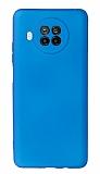 Xiaomi Mi 10T Lite Kamera Korumalı Mavi Silikon Kılıf