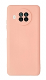 Xiaomi Mi 10T Lite Kamera Korumalı Açık Pembe Silikon Kılıf