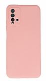 Xiaomi Redmi Note 9 4G Kamera Korumalı Pembe Silikon Kılıf