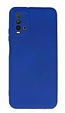 Xiaomi Redmi Note 9 4G Kamera Korumalı Lacivert Silikon Kılıf