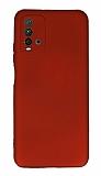 Xiaomi Redmi Note 9 4G Kamera Korumalı Kırmızı Silikon Kılıf
