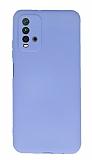 Xiaomi Redmi Note 9 4G Kamera Korumalı Mor Silikon Kılıf