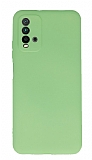 Xiaomi Redmi Note 9 4G Kamera Korumalı Yeşil Silikon Kılıf