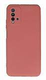 Xiaomi Redmi Note 9 4G Kamera Korumalı Turuncu Silikon Kılıf