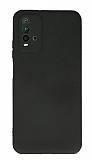 Xiaomi Redmi Note 9 4G Kamera Korumalı Siyah Silikon Kılıf
