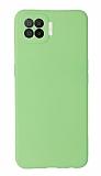 Oppo A73 Kamera Korumalı Yeşil Silikon Kılıf