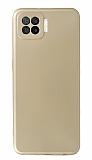 Oppo A73 Kamera Korumalı Gold Silikon Kılıf