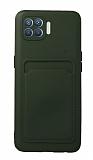 Oppo Reno4 Lite Kartlıklı Kamera Korumalı Yeşil Kılıf