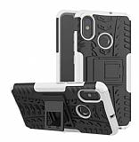 Xiaomi Redmi S2 Süper Koruma Standlı Beyaz Kılıf