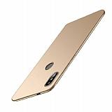 Xiaomi Redmi S2 Tam Kenar Koruma Gold Rubber Kılıf