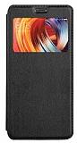 Xiaomi Mi Mix 2 Pencereli İnce Kapaklı Siyah Kılıf