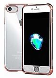 Xundd Armor Series iPhone 7 / 8 360 Derece Koruma Rose Gold Kenarlı Silikon Kılıf