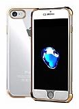 Xundd Armor Series iPhone 7 / 8 360 Derece Koruma Gold Kenarlı Silikon Kılıf