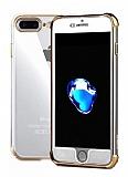 Xundd Armor Series iPhone 7 Plus / 8 Plus 360 Derece Koruma Gold Kenarlı Silikon Kılıf