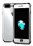 Xundd Armor Series iPhone 7 Plus / 8 Plus 360 Derece Koruma Siyah Kenarlı Silikon Kılıf