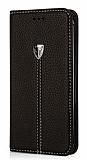 Xundd Noble Samsung Galaxy Note 5 Kapaklı Siyah Deri Kılıf