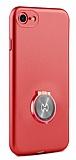 Xundd Vette Series iPhone 6 / 6S Silikon Kenarlı Kırmızı Deri Kılıf