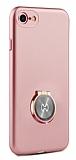 Xundd Vette Series iPhone 6 / 6S Silikon Kenarlı Rose Gold Deri Kılıf