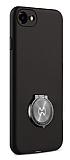 Xundd Vette Series iPhone 6 / 6S Silikon Kenarlı Siyah Deri Kılıf