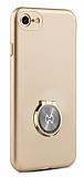 Xundd Vette Series iPhone 7 / 8 Silikon Kenarlı Gold Deri Kılıf