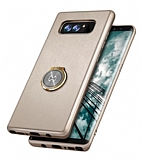 Xundd Vette Series Samsung Galaxy Note 8 Silikon Kenarlı Gold Deri Kılıf