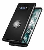 Xundd Vette Series Samsung Galaxy Note 8 Silikon Kenarlı Siyah Deri Kılıf