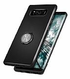 Xundd Vette Series Samsung Galaxy S8 Plus Silikon Kenarlı Siyah Deri Kılıf