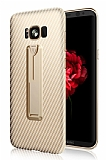 Xundd Vision Series Samsung Galaxy S8 Plus Karbon Gold Silikon Kılıf