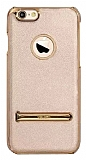 YOLOPE iPhone 6 / 6S Standlı Gold Rubber Kılıf