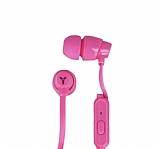 Yookie Universal Mikrofonlu Pembe Kulakiçi Kulaklık