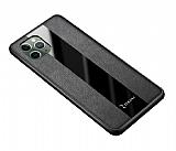 Zebana iPhone 11 Pro Max Premium Siyah Deri Kılıf