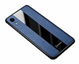 Zebana iPhone XR Premium Lacivert Deri Kılıf
