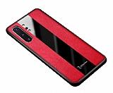 Zebana Samsung Galaxy Note 10 Plus Premium Kırmızı Deri Kılıf