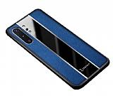 Zebana Samsung Galaxy Note 10 Plus Premium Mavi Deri Kılıf
