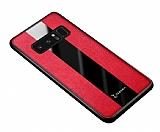 Zebana Samsung Galaxy Note 8 Premium Kırmızı Deri Kılıf