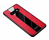 Zebana Samsung Galaxy Note 9 Premium Kırmızı Deri Kılıf