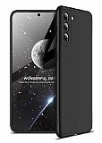 Zore GKK Ays Samsung Galaxy S21 Plus 360 Derece Koruma Siyah Rubber Kılıf