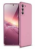Zore GKK Ays Samsung Galaxy S21 Plus 360 Derece Koruma Rose Gold Rubber Kılıf