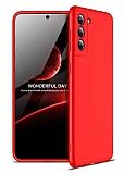 Zore GKK Ays Samsung Galaxy S21 Plus 360 Derece Koruma Kırmızı Rubber Kılıf
