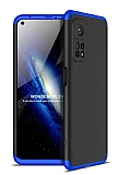 Zore GKK Ays Xiaomi Mi 10T Pro 5G 360 Derece Koruma Mavi-Siyah Rubber Kılıf