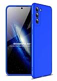 Zore GKK Ays Samsung Galaxy S21 360 Derece Koruma Mavi Rubber Kılıf