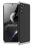 Zore GKK Ays Samsung Galaxy S21 360 Derece Koruma Siyah-Gri Rubber Kılıf
