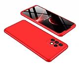 Zore GKK Ays Samsung Galaxy A32 4G 360 Derece Koruma Kırmızı Rubber Kılıf