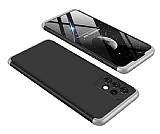 Zore GKK Ays Samsung Galaxy A32 4G 360 Derece Koruma Siyah-Gri Rubber Kılıf